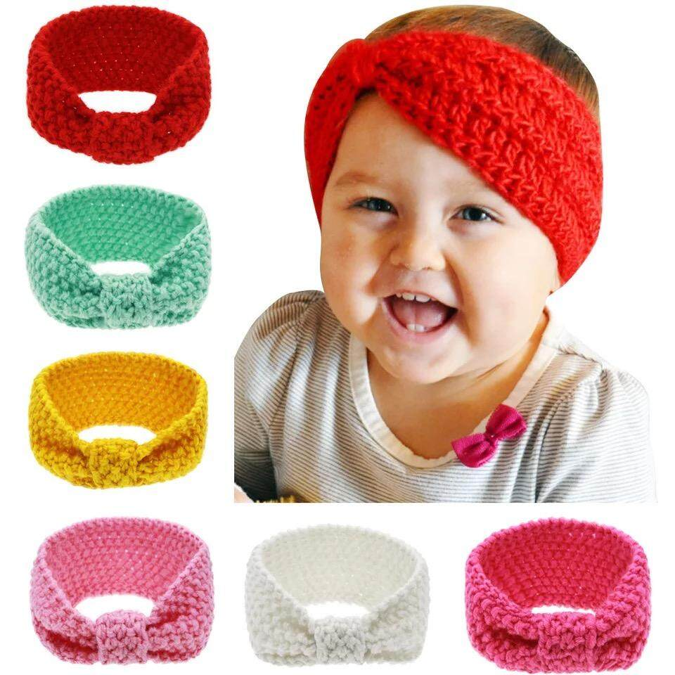 6pcs/set Baby Girls Knitting Headband Head Wrap Knotted Hair Band By Ice Bumblebee Ventures.