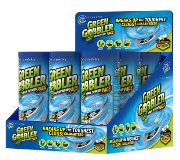 (malaysia Official)green Gobbler Drain Cleaner/ Drain Opener/clog Remover/ Sink/drain Cleaner 2x3 Pacs (free 2x Green Gobbler Hair Grabber Worth Rm 50 !) By Official Green Gobbler Malaysia.