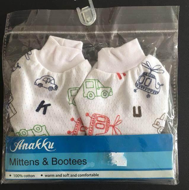 Anakku Newborn Baby Boy Cute Mitten Booties 0-6 Months Sarung Kaki Tangan Bayi By Preciousbabeboutique.