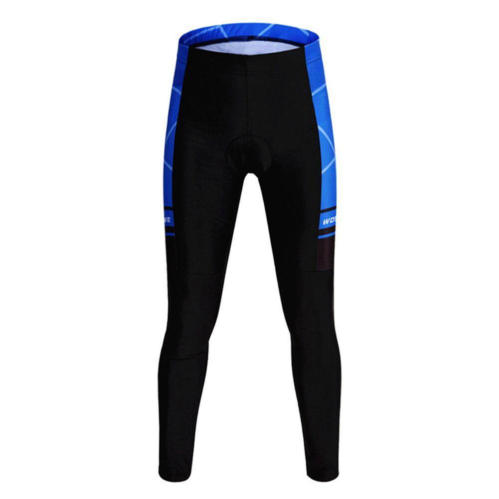 Wosawe Cycling Long Pants Gel Padded Wind Cold Proof Outdoor Sport Trousers Mtb Pants, Bc189 Black+blue M By Yomichew.