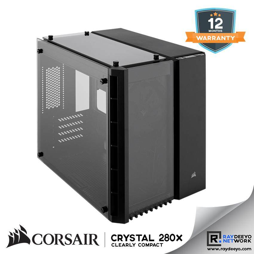 Corsair Crystal Series 280x Tempered Glass Micro ATX PC Case (Black) [Matx, Mini-ITX] Malaysia