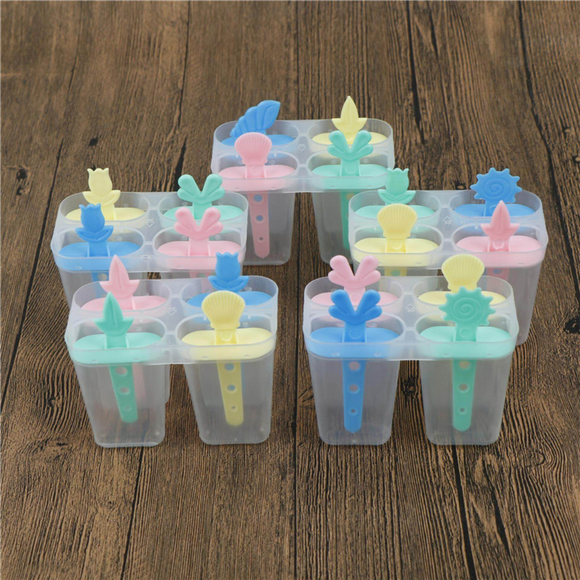Jettingbuy 4 Cell Ice Cream Pop Mold Popsicle Maker Lolly Mould Tray Pan Diy By Jettingbuy.