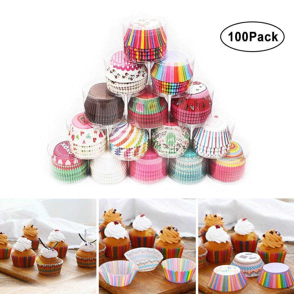 Ltplaza 100pcs Colorful Paper Baking Cups Cupcake Liners Decoration For Wedding Or Birthday ,tea Party Perfect Cups For Cake Balls, Muffins, Cupcakes By Ltplaza.
