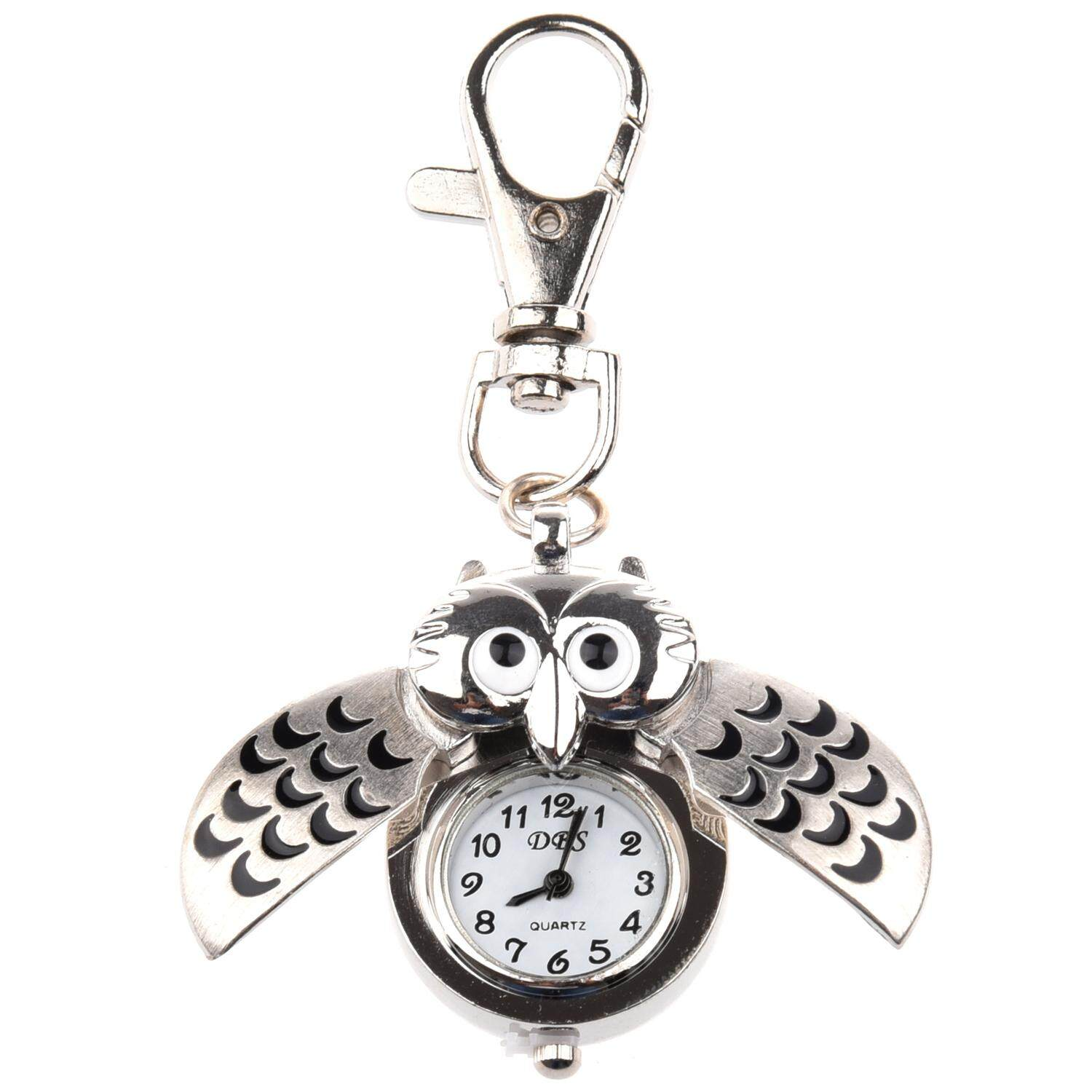 Owl Watch w / Keychain Clip Pocket Watch Malaysia