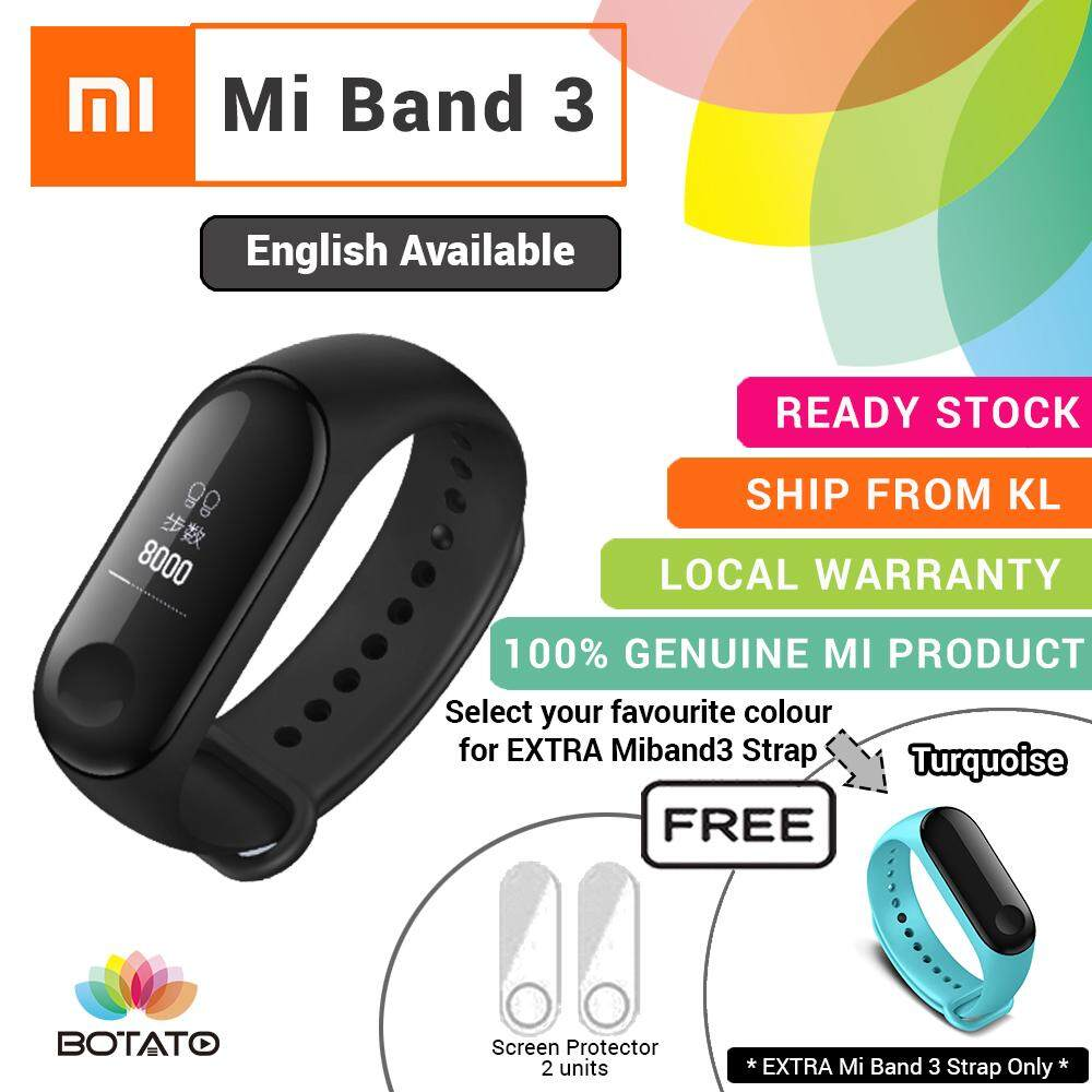 Fitness Trackers For The Best Price In Malaysia Jam Tangan M2 Health Bracelet 1 Year Warranty Original Mi Band 3 Oled Brand New Xiaomi