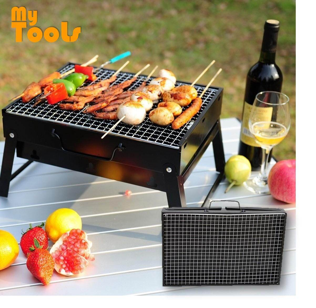 BBQ Grill Portable Outdoor Folding Barbeque Charcoal Picnic Camping