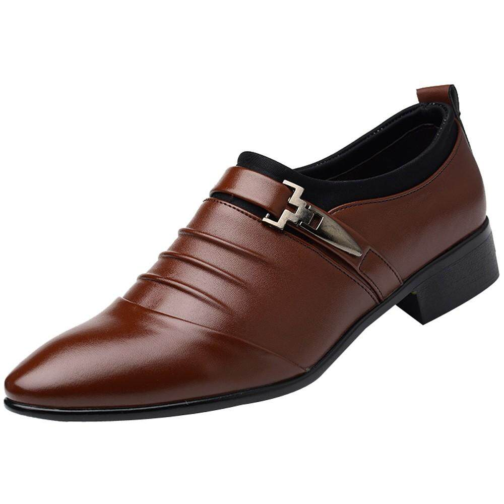 Mens Formal Shoes With Best Online Price In Malaysia Tendencies Sandals Footbed 2 Strap Black Hitam 40 New British Leather Fashion Man Pointed Toe Wedding