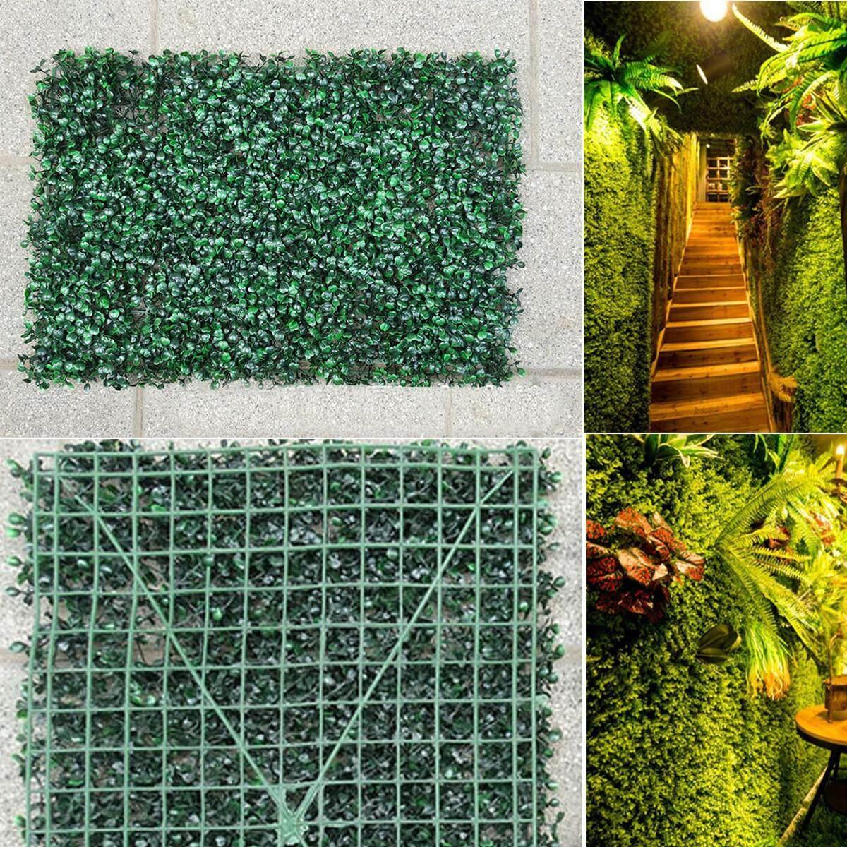 1PCS Artificial Plant Walls Foliage Hedge Grass Mat Greenery Panels Fence 40*60cm