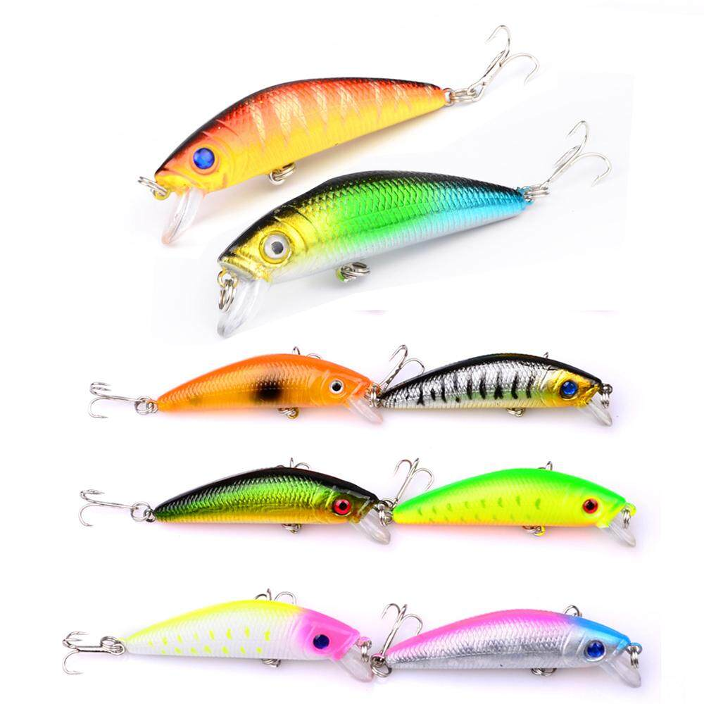 8pc Minnow Fishing Lure 8 Colors 5.8cm 7g Hard Fishing Bait Iscas Artificiais Para Pesca