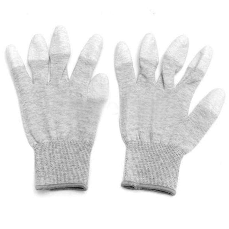 Anti Static Anti Skid ESD Electronic Labor Working Glove PC Computer Repair Size: L