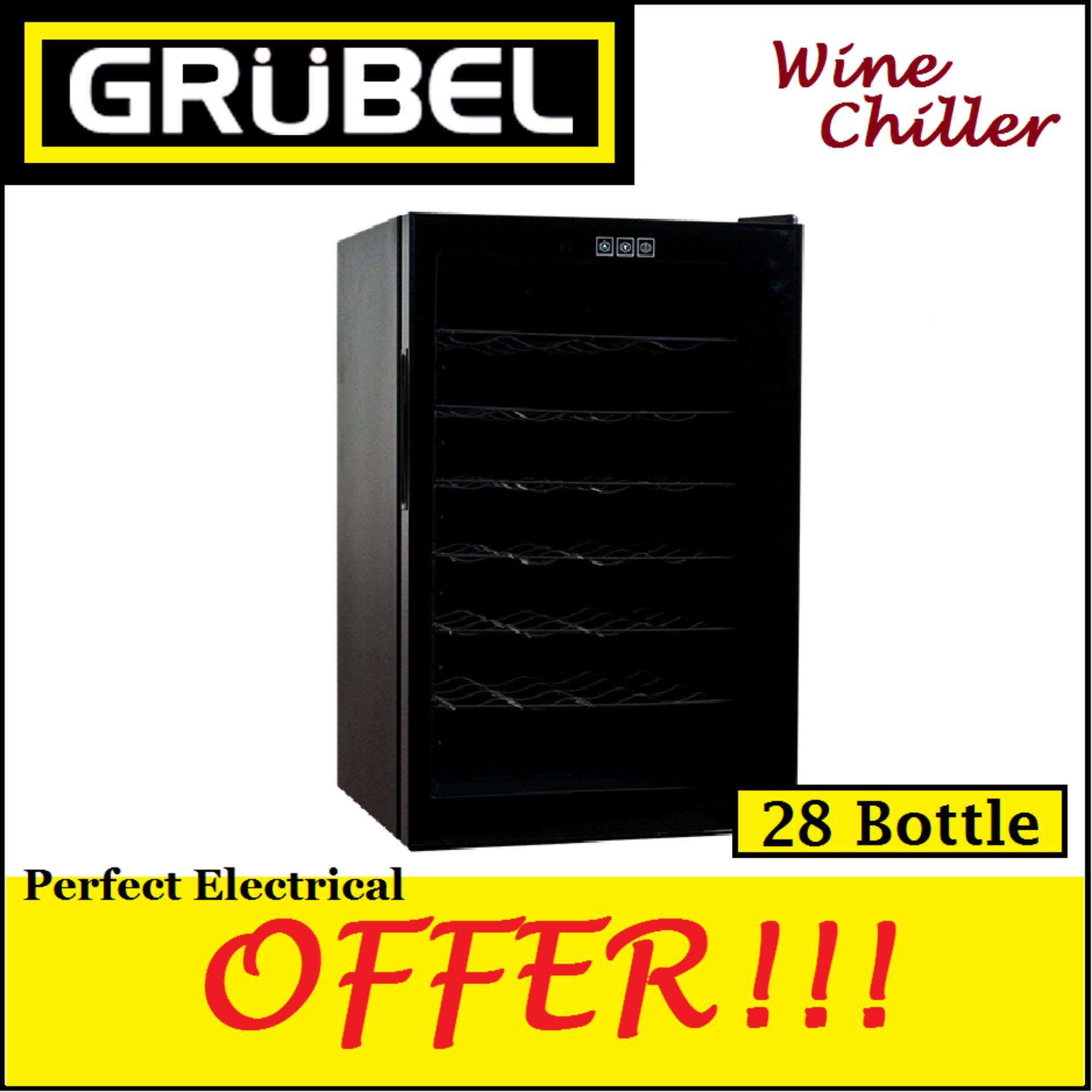 Grubel Wine Cellar Gwc-Tp28bk - 28 Bottles (germany) By Perfect Electrical Store