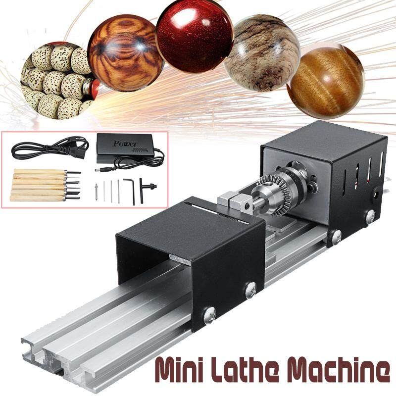 100W Mini Lathe Beads Machine Polisher Table Saw Multi Functional DIY Wood Lathe