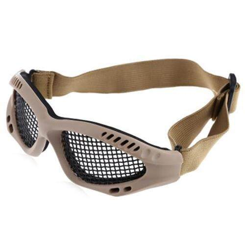 Eye Protected Goggles Anti-Impact Metal Mesh For Outdoor Cs Games (soil) By Mrepublic.