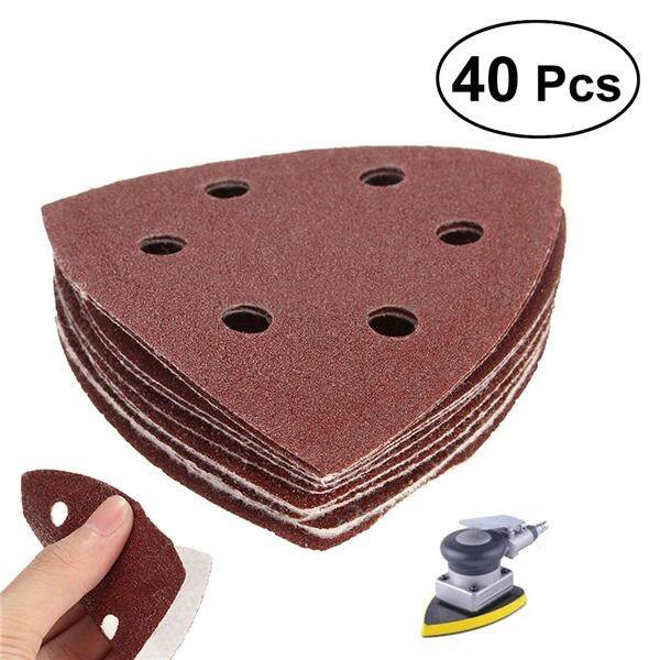 40 in 1 Mixed Grits 6-Hole Hook and Loop Sanding Sheets Sandpaper Pads