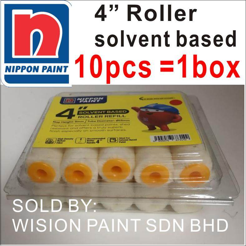 4 SOLVENT BASE ROLLER REFILL 10PCS 1 BOX NIPPON PAINT