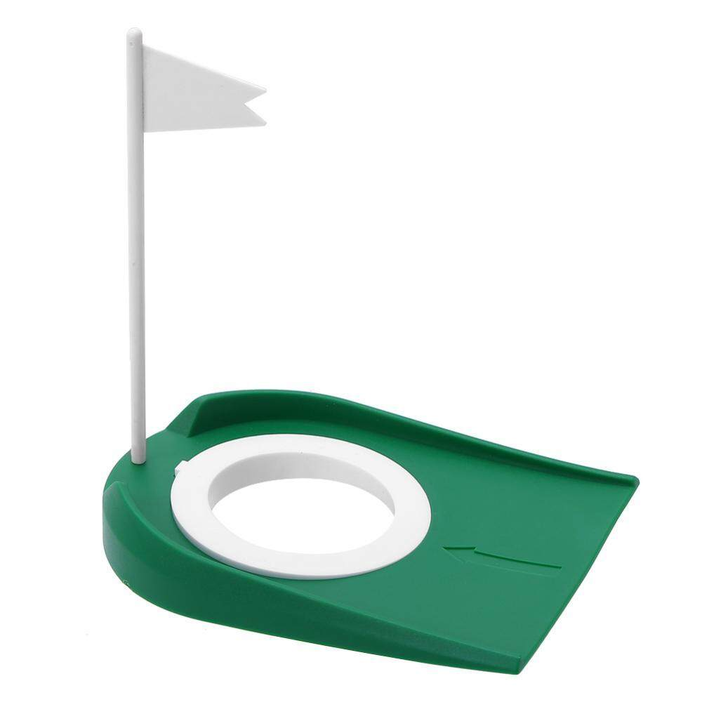 Epayst Indoor Outdoor Plastic Golf Putting Cup Practice Aids With Adjustable Hole White Flag By Epayst.