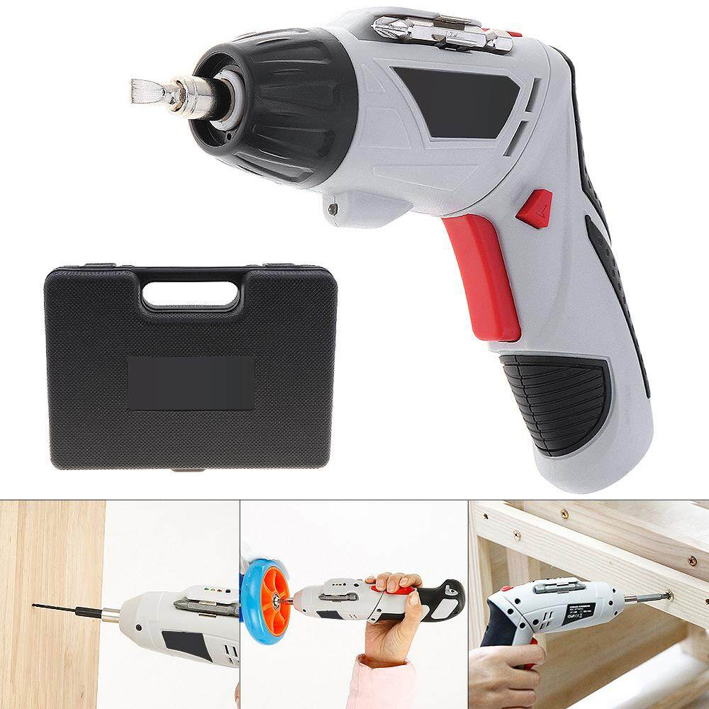 48pc 4.8V Mini 220rpm 110 / 220V Rechargeable Electric Screwdriver with 90-180 Degrees Rotating Head and LED Light for Household DIY Tool