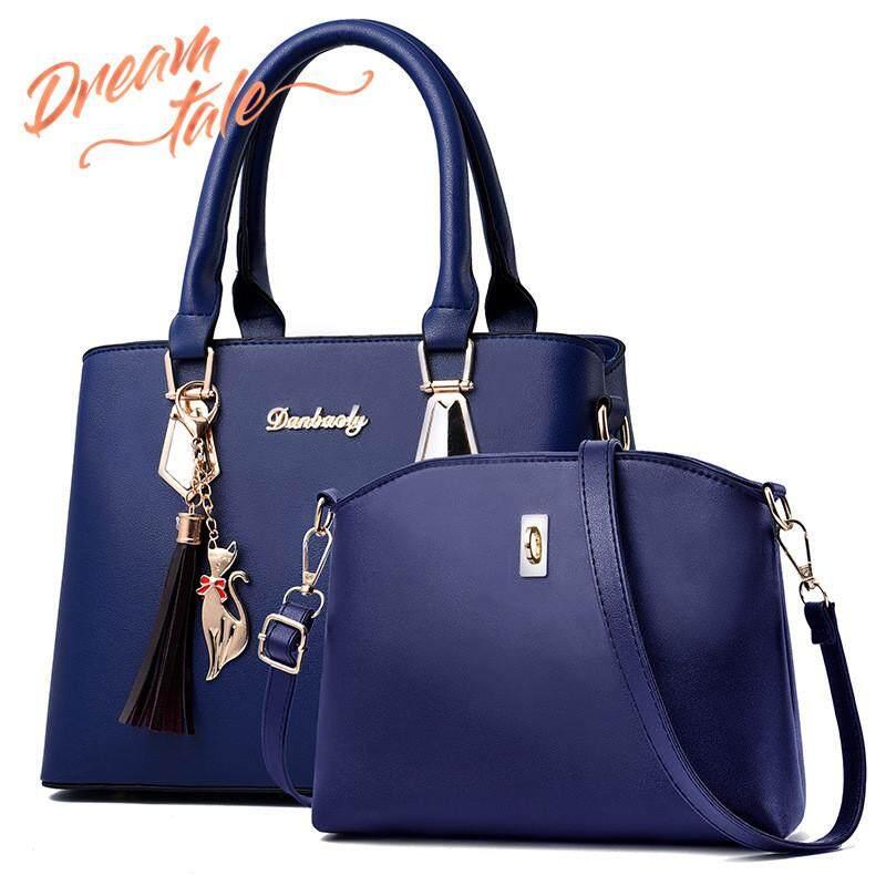 09e77ea4711f Dreamtale Fashion Handbag 2 in 1 Hard PU Lather Classy Design FREE CAT  KEYCHAIN