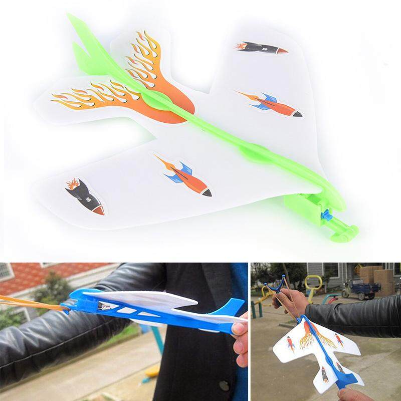 Graceful Diy Plastic Foam Elastic Rubber Flashing Ejection Cyclotron Plane Aircraft Model By Graceful Bearing.