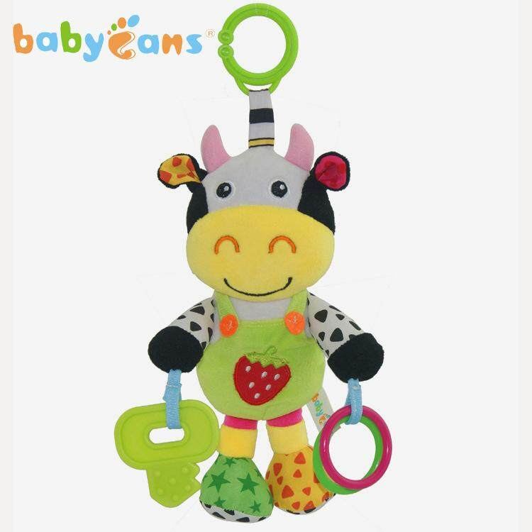 13 inch Music Cow Plush Toy Infant Rattles Stuffed Animal Toy