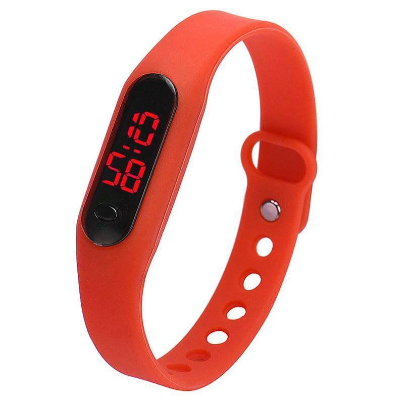 Fashion child movement Silica gel LED Watch Red Malaysia