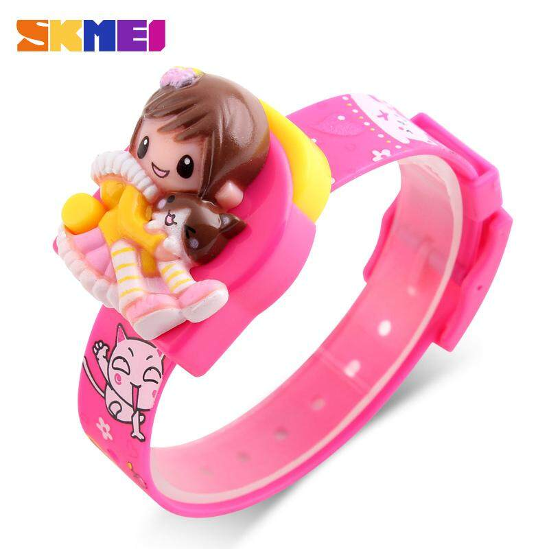 SKMEI New Fashion Girls Cartoon Watches Creative Students Watch Kids Children Kids Digital Lovely Wristwatches Jam tangan 1240 Malaysia