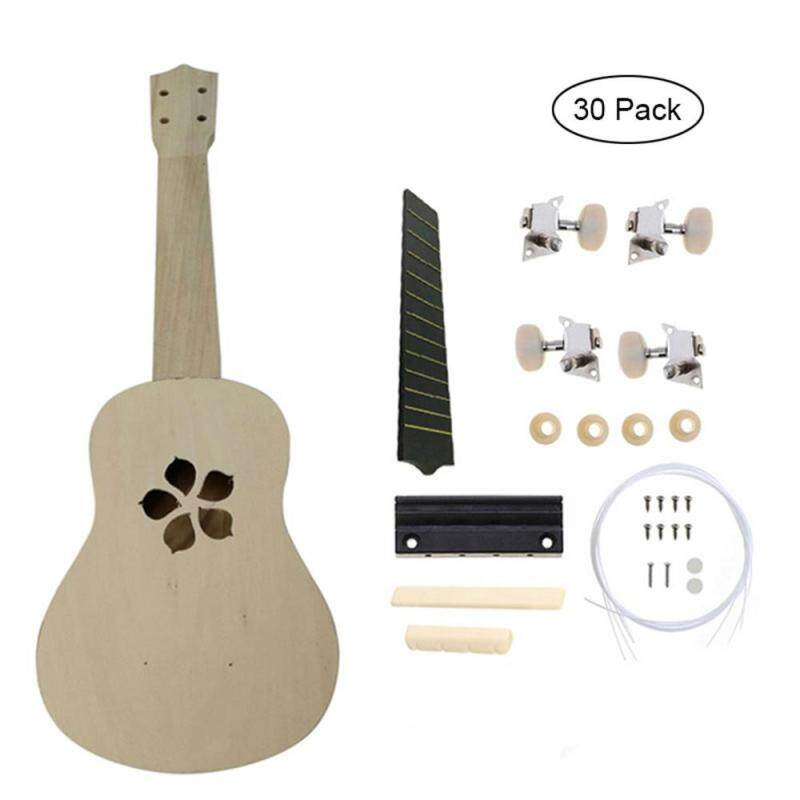 leegoal 21 Inch Ukulele Basswood Hawaii Assembled Guitar Kit DIY Musical Instument,Leaf Grass Pattern(30 Pcs) Malaysia