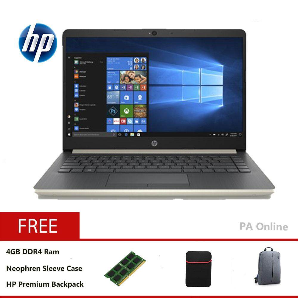 HP 14s-cf0059tx (8GB RAM)- Intel Core i5-8250u /8GB DDR4 Ram /256GB SSD /14 FHD LED /2GB AMD Radeon M530 /Win 10 /2 Years Malaysia