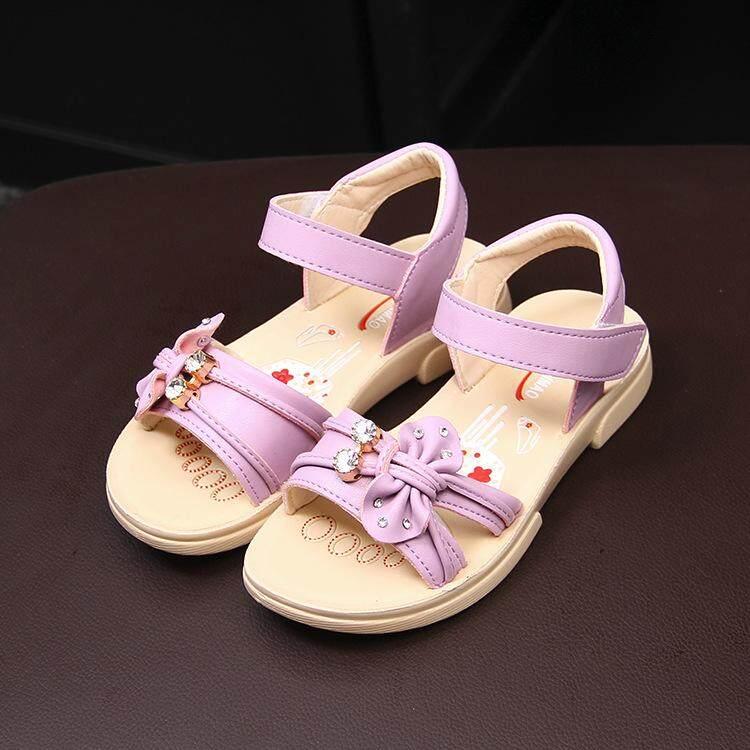 917138cb9e Children Sandals Sweet Bows Summer Girls Princess Sandals Comfortable Soft  Baby Shoes