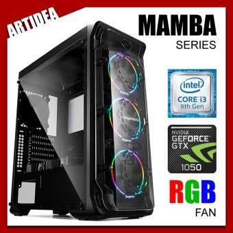 ARTIDEA LUX ll MAMBA GAMING PC ( i3-8100 / H310M MOBO / 8GB 2666MHz RAM / GTX 1050 2GB / 1TB HDD / FSP 500W BRONZE 80+ PSU )