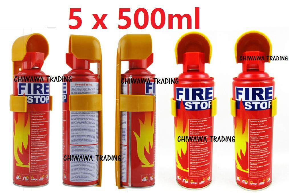 ORIGINAL 【Set of 5】- 500ml Portable Instant Fire Extinguisher Fire Stop Foam for automotive Car & Home Dual Use.