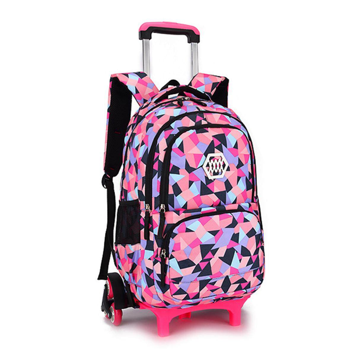 0ea1928064 New Girls Boys Children Trolley Backpack Travel Suitcase Kids Wheeled School  Bag  2wheel