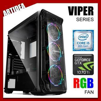 ARTIDEA LUX ll VIPER GAMING PC ( i5-8400 / H310M MOBO / 8GB 2666MHz RAM / GTX 1070 TI 8GB TWIN FAN / 1TB HDD / FSP 600W 80+ BRONZE PSU )