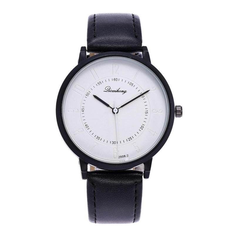 BODHI Fashion Minute Marker Dial Faux Leather Women Quartz Analog Wrist Watch Gift (Black) Malaysia