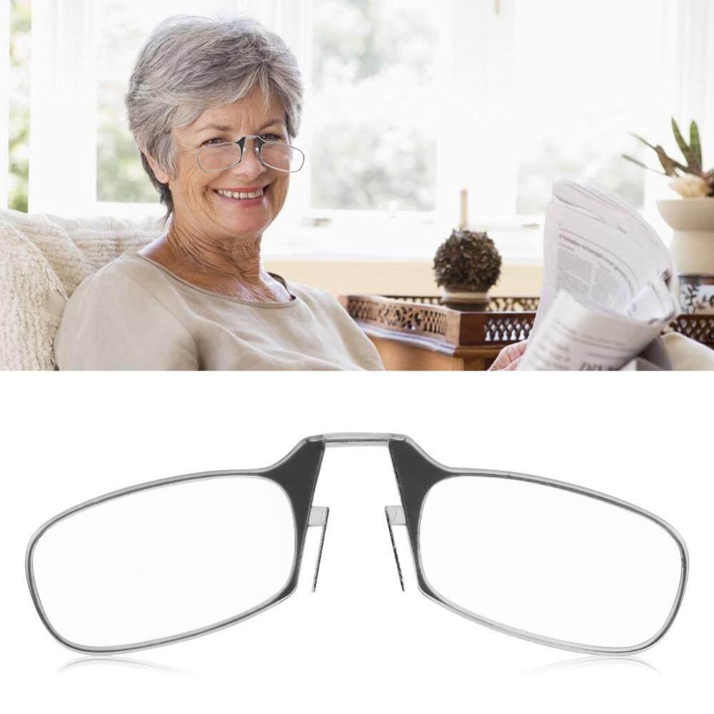 e13657c94f Mini Keychain Unisex Elders Ultra Light Nose Clip Reading Presbyopic Glasses  Clear 2.5