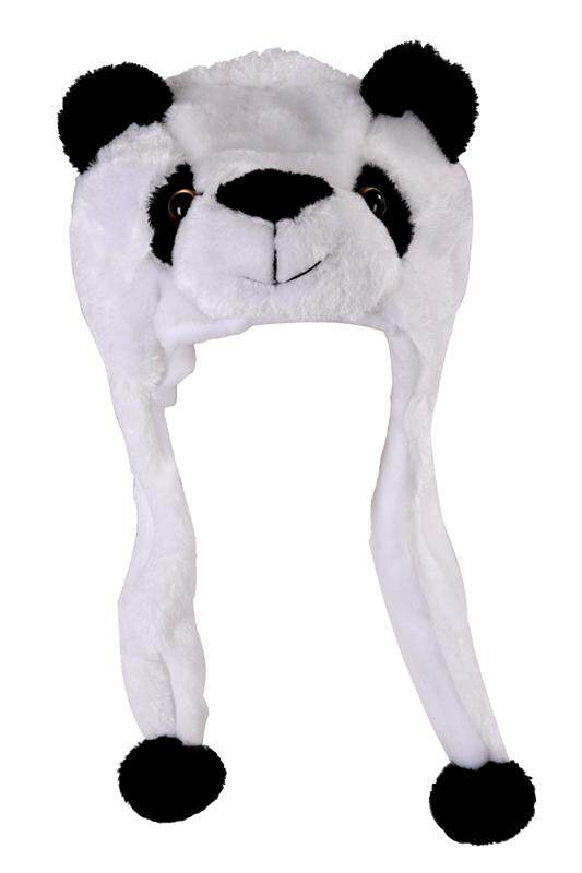 Childrens Animal Hat With Scarf Faux Fur Kids Winter Hat Cool Gift - Panda By Fastour.