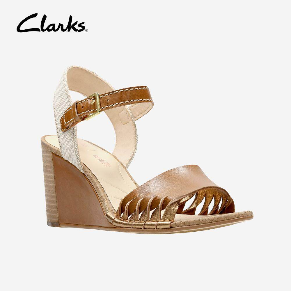 caeeac6a6fd Clarks Women s Spiced Poppy Tan Combi Lea Casual Sandals Fashion Stylish  Comfort Comfort Fashion