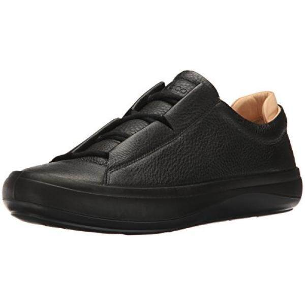 c082309463 ECCO Mens Kinhin Fashion Sneaker, Black/Veg Tan, 42 EU/8- US