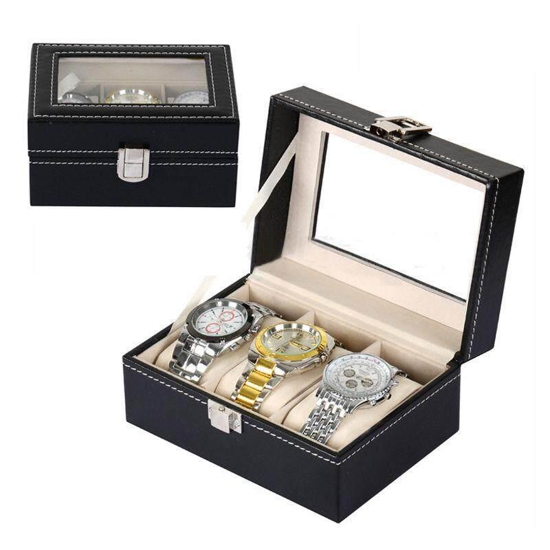 3 Slot Watch Box Display PU Leather Kotak Jam Malaysia