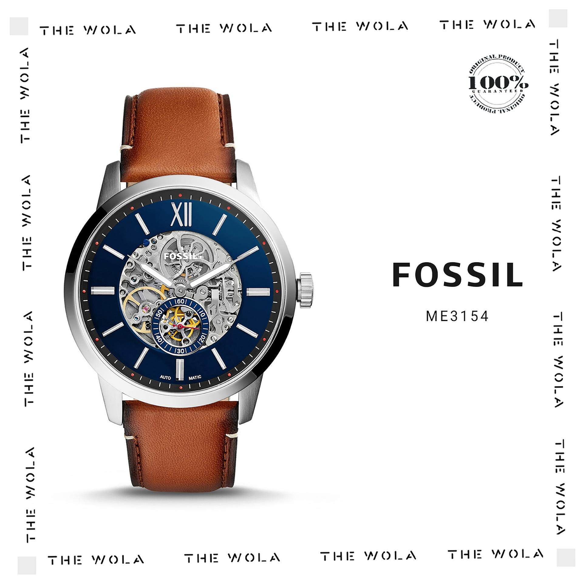 Fossil Products For Men Women The Best Price In Malaysia Me3140 Grant Sport Automatic Skeleton Dial Lugage Leather Watch Me3154 Original Genuine 2 Years Warranty