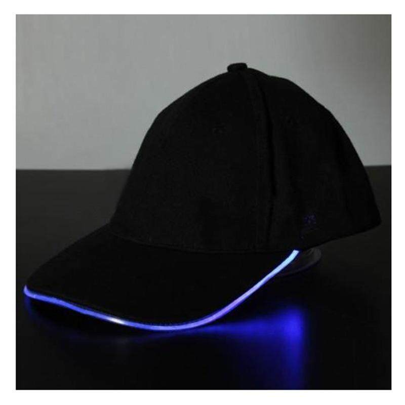 01da7d4d178 2   LED Lighted Glow Hat Black Fabric Baseball Golf Hip-hop Sports Cap Men