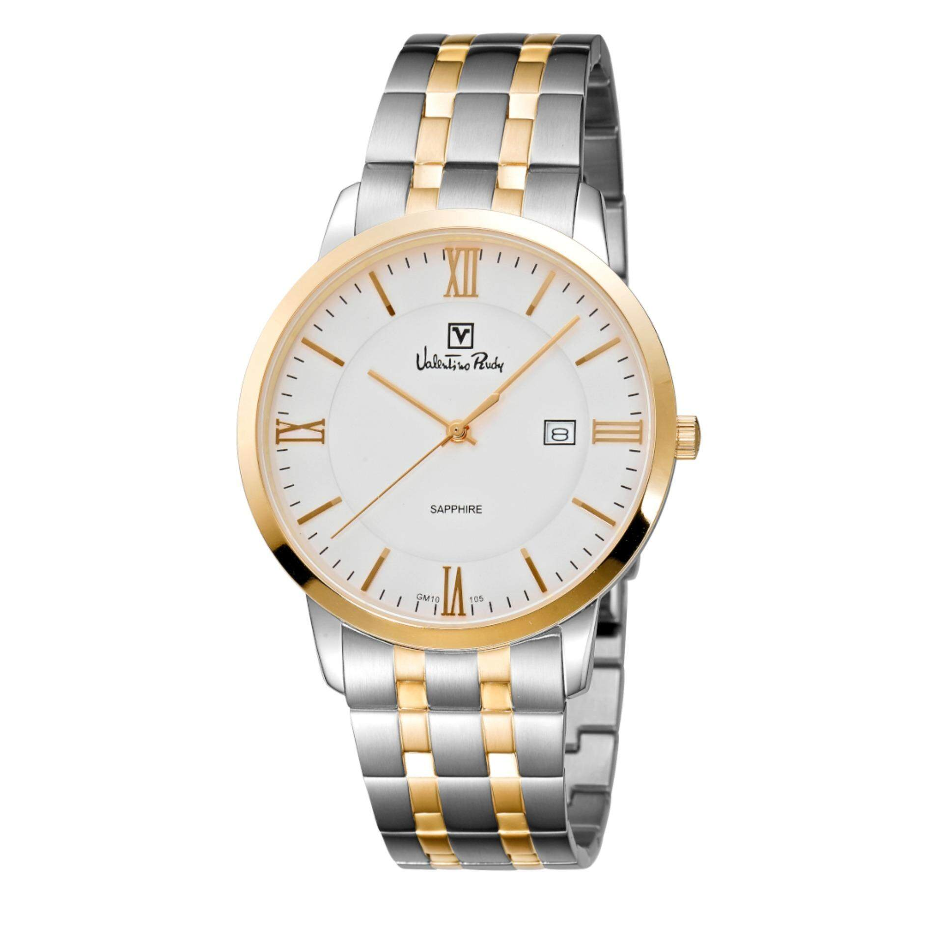 Valentino Rudy Men Watch Jam Tangan Lelaki VR105-1113 Silver Stainless Steel Watch Malaysia