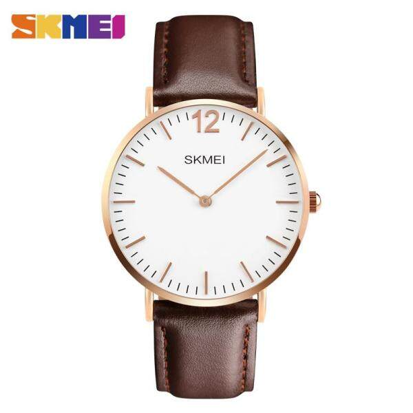 SKMEI Fashion Watches Simple Quartz Nylon Leather Waterproof Casual Watch For Men Women 1181 Malaysia
