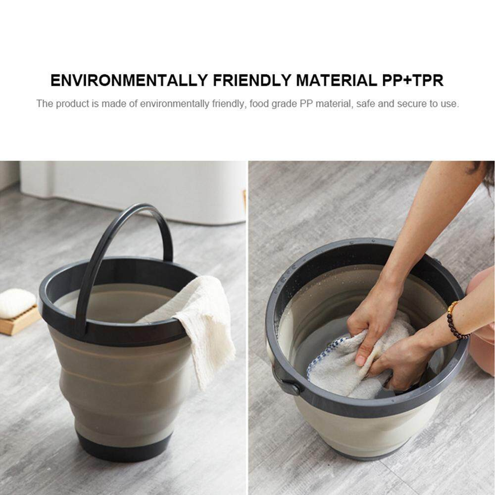 SeaLavender Collapsible Bucket Mension Portable Silicone Foldable Water Container Outdoor Cleaning Folding Wash Pail For Fishing Beach Camping Car Washing Gardening