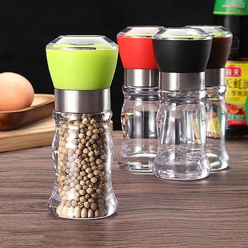 Manual Pepper Grinder Salt Spices Mill Shaker Transparent Grinding Tool Milling Cutter Machine Kitchen Tool By Sunshineyou.