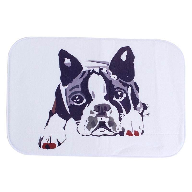 Antiskid Mat Doormat Area Rug Carpet Bathroom Floor Mat Outdoor Indoor Home Dining Room Decor 40cm*60cm Tummy dog white