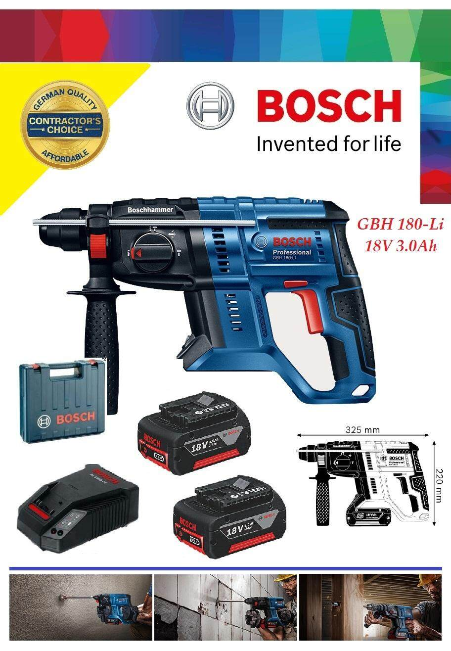 Bosch GBH 18V 3.0Ah Compact Cordless Rotary Hammer, Cordless Rotary Hammer Drill