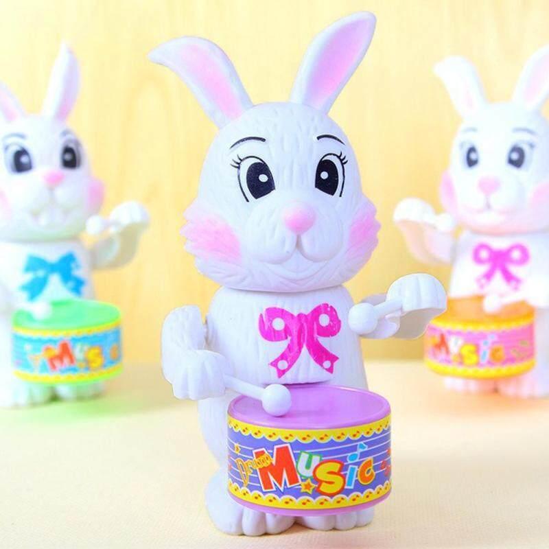 LB Cartton Rabbit Drumming Toy Clockwork Wind-Up Educational Developmental Toy for Kids Malaysia