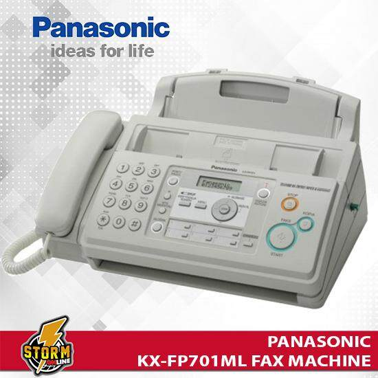 Panasonic Kx-Fp701ml Plain Paper Fax Machine (white) By Storm Online.