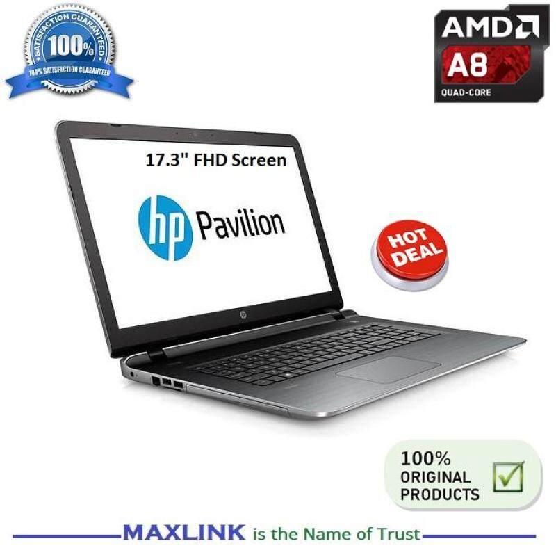 HP PAVILION 17-G101AX 17.3In FHD  Screen AMD A8-7410 8GB 1TB Quad-Core APU Windows 10 (Ex Display Unit) Malaysia